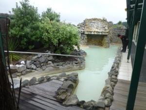 泥温泉の後に入る露天風呂