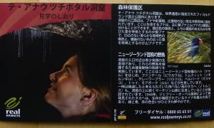 テアナウ洞窟のパンフレット