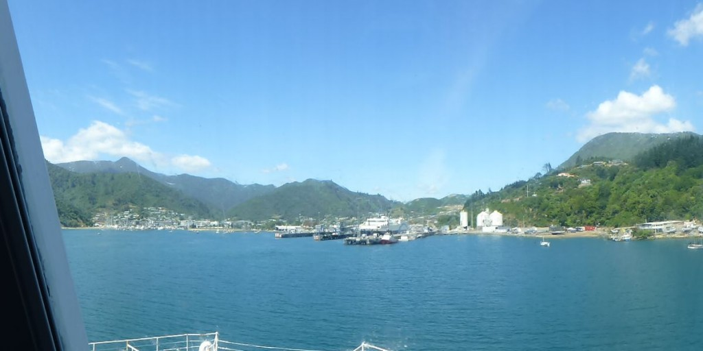 南島のピクトン港
