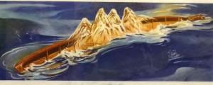 アオラキのカヌーと呼ばれる南島