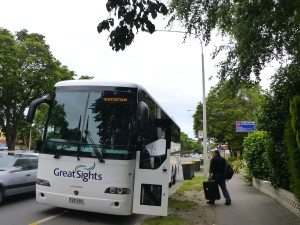 クウィーンズタウン行きのバス