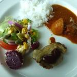 肉料理とご飯