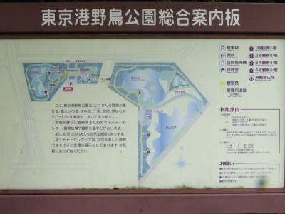 東京港野鳥公園案内板