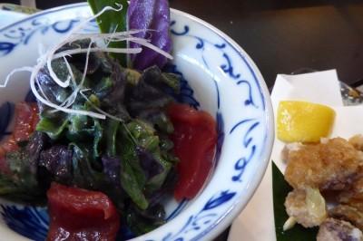 西表島の寿司屋初枝で食べたハンダマの和え物