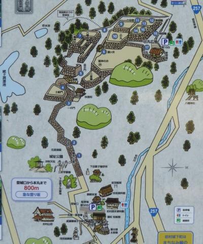 岩村城案内図