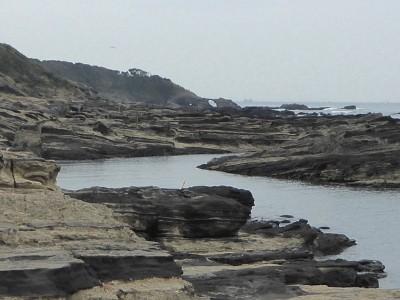 馬ノ背に向かう海岸線