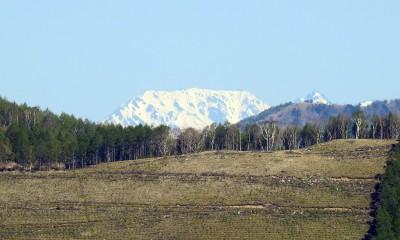 山荘から見た立山